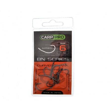 Kabliukai Carp Pro Black Nickel Curved Shank №6
