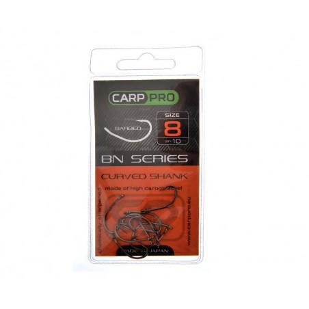 Kabliukai Carp Pro Black Nickel Curved Shank № 8