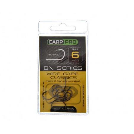 Kabliukai Carp Pro Black Nickel Wide Gape Classics № 6