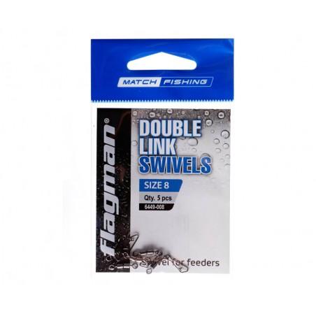 Segtukas su dvigubu suktuku Flagman Double Link Swivels № 8