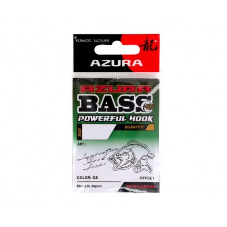 Ofsetiniai kabliukai Azura Bass Powerful Hook №1/0