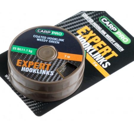 Pavadėlinė medžiaga su padengimu Carp Pro 25lb 7m žalia