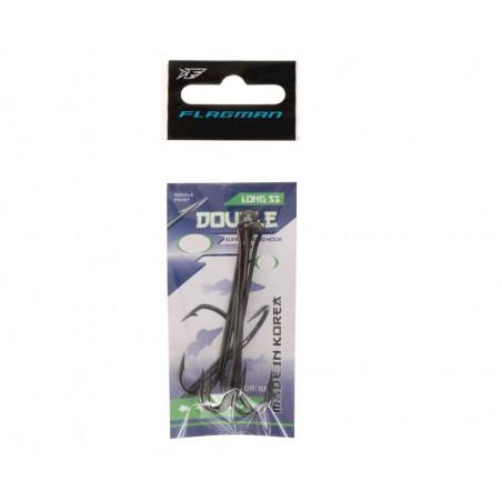 Dvišakiai kabliukai Flagman Double Hook Long SS №4