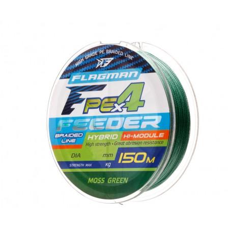 Pintas valas dugninei Flagman PE Hybrid F4 Feeder 150 m Moss Green 0.16 mm 8.5 kg