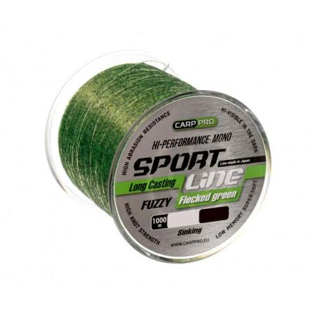 Karpinis valas Carp Pro Sport Line Flecked Green 1000m 0.286mm